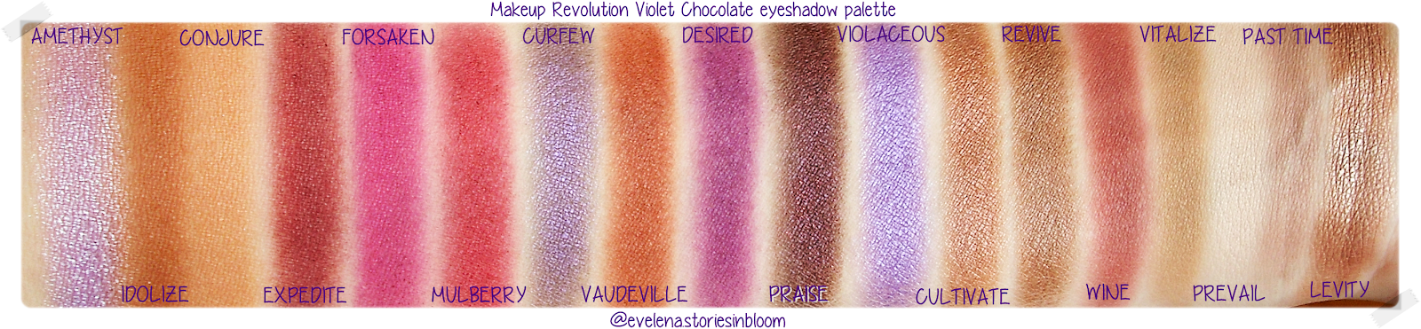 Makeup Revolution the Violet Chocolate eyeshadow palette - norvina - too faced - huda beauty - review - make-up look - Golden Rose Soft & Matte lipstick 101, 106, 114 - review swatch