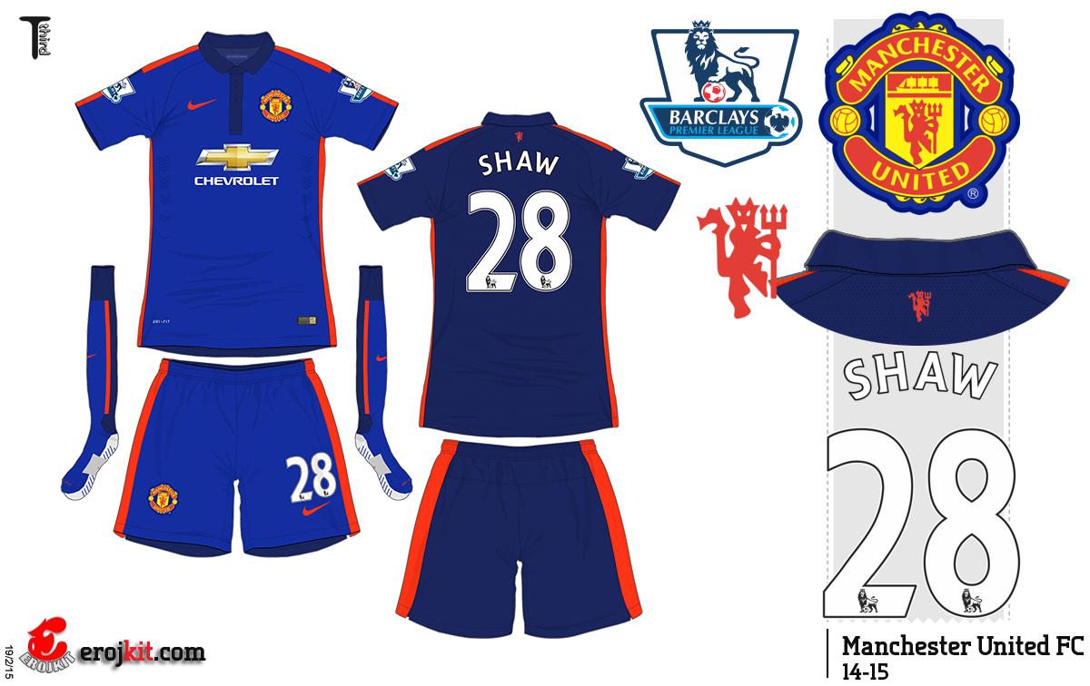 Kit Design, By Eroj: 2014-15 Manchester United (Home, Away