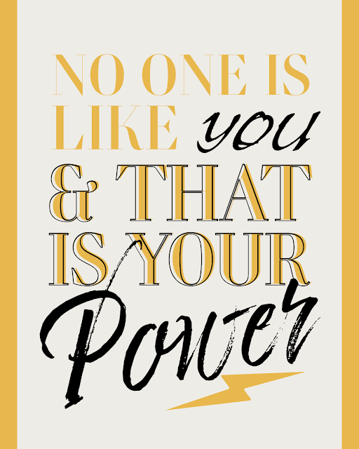 no one is like you, positive, well being, inspirational quotes,