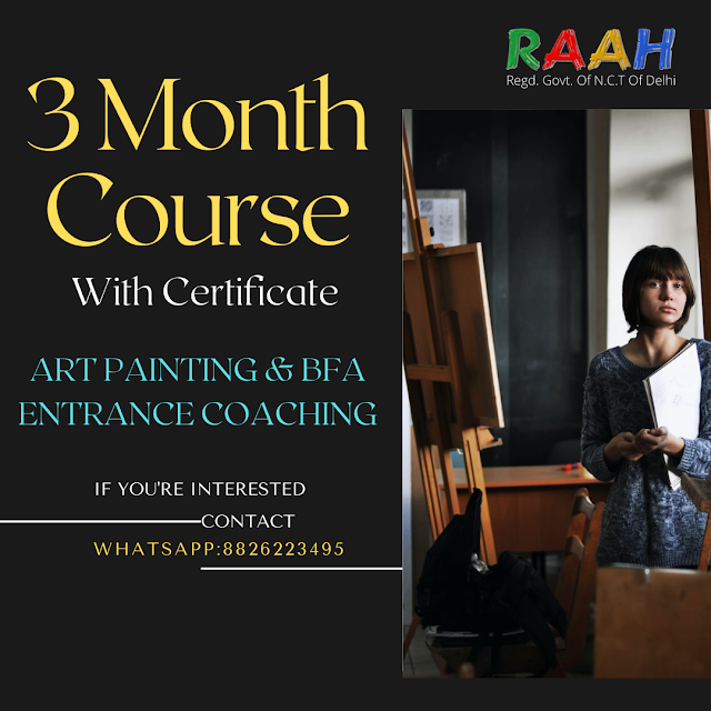 3 Month Certificate Art Courses  Online and Offline Available Basic | Medium | Professional Courses with Certificate BFA Coaching Classes Online and Offline  Join Us : 88226223495 | info@gmail.com  RAAH ACADEMY   Offering Online Classes for BFA Entrance/certificate courses   Join Now   Whatsapp Call/Message - 8826223495  Email - Info@theraah.com  RAAH Fine Art classes Join Now  https://youtu.be/X-maPpGSYfc  Fine Art Degree Coaching Classes Join Now  https://youtu.be/xU_nXRgt1Fs  Professional Portrait Classes Joni Now  https://youtu.be/ZjIfRxs0-vY