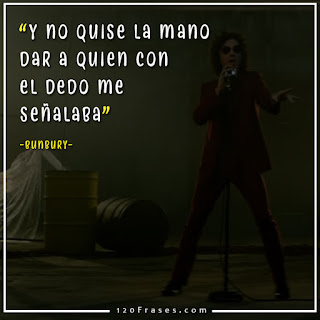 bunbury en su video hombre de accion mas fragmento de la letra