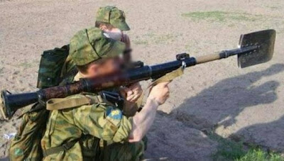 grappige soldaat