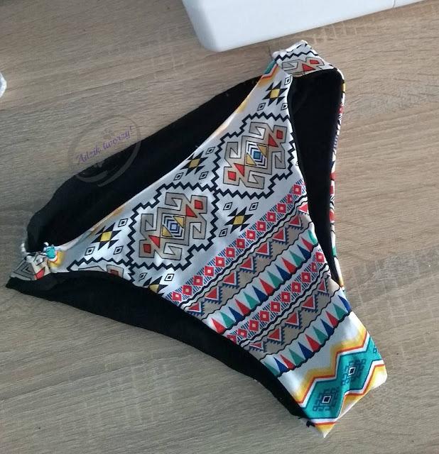 Dwuczęściowy strój kąpielowy DIY szycie z upcyklingu - Adzik tworzy