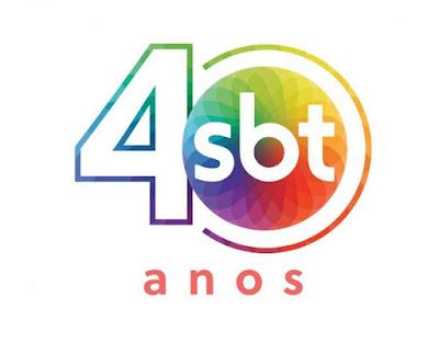 Logotipo em comemoração aos 40 anos do SBT