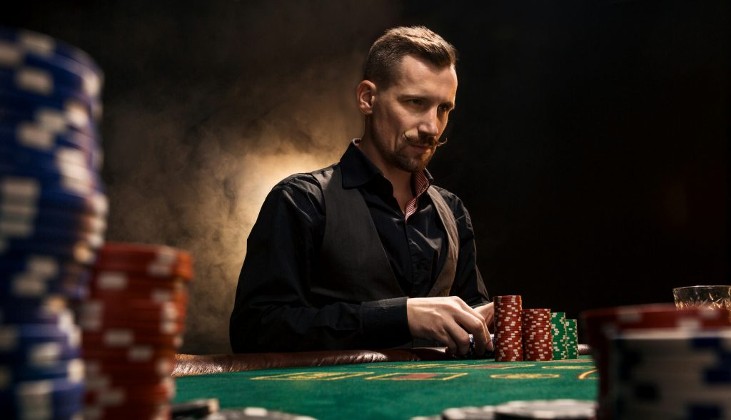 The poker face is one of the most essential tactics when playing the game of poker. It's a key poker strategy in which you keep a calm, straight face