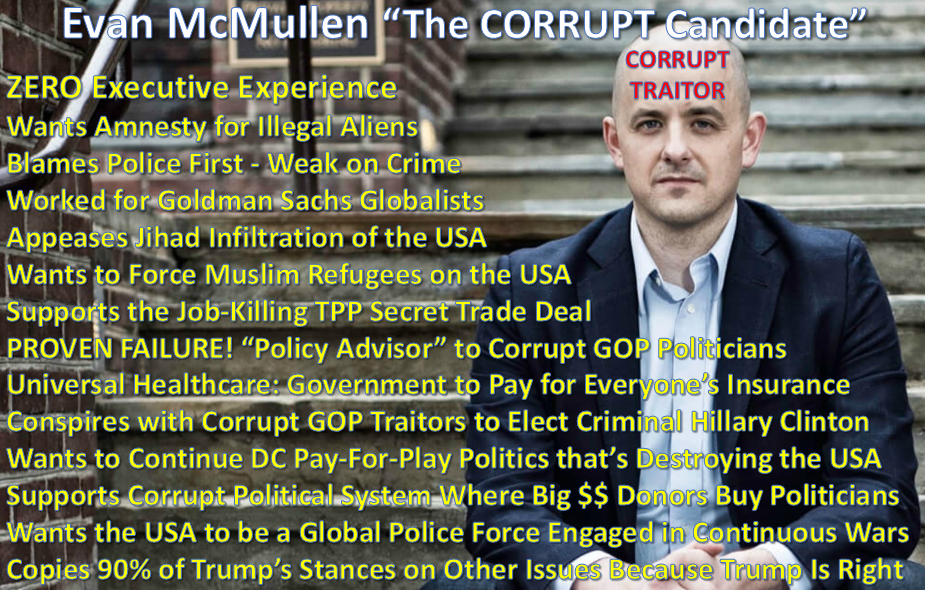 Evan McMullin The CORRUPT Establishment Candidate Used to Get Criminal Hillary Clinton Elected