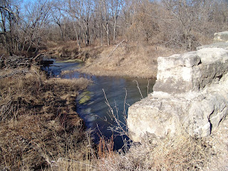 old stone arched  bridge Eastern Cowley County Kansas