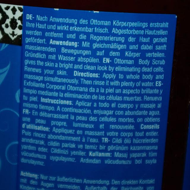 [Beauty] Ottoman Argan Spa Body Scrub Körperpeeling Sahara Musk