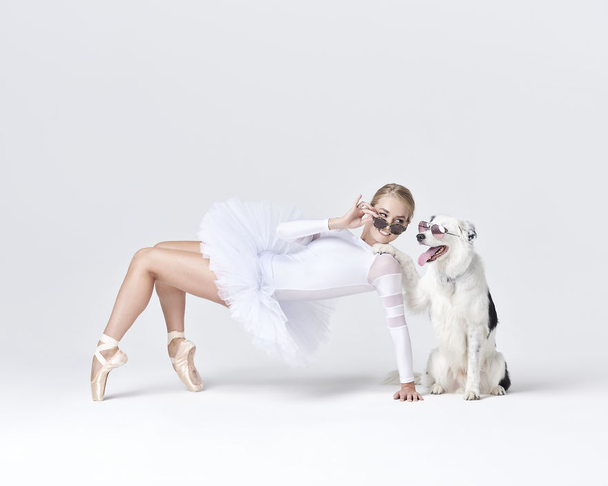 Ballet Dancers And Dogs