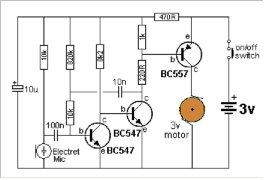 led light circuit diagram 3v
