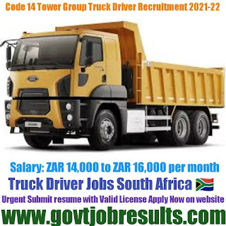 Tower Group Code 14 Truck Driver Recruitment 2021-22