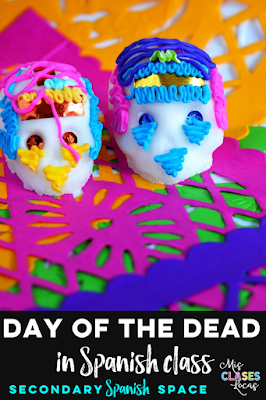 Day of the Dead in Spanish class - shared on Secondary Spanish Space