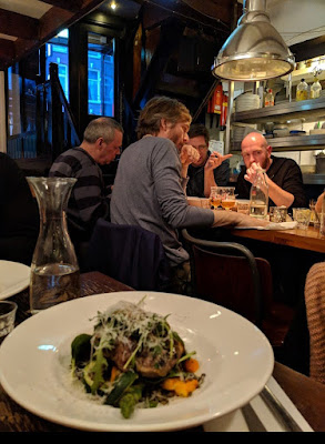 Eating with locals at Dutch Restaurant De Koe in Amsterdam