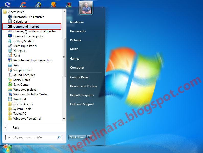 Cara Menghapus File atau Folder Melalui CMD di Windows 7 - Hendinara