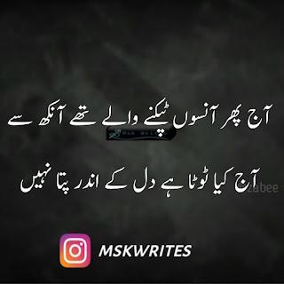 Sad Poetry In Urdu 2 Line