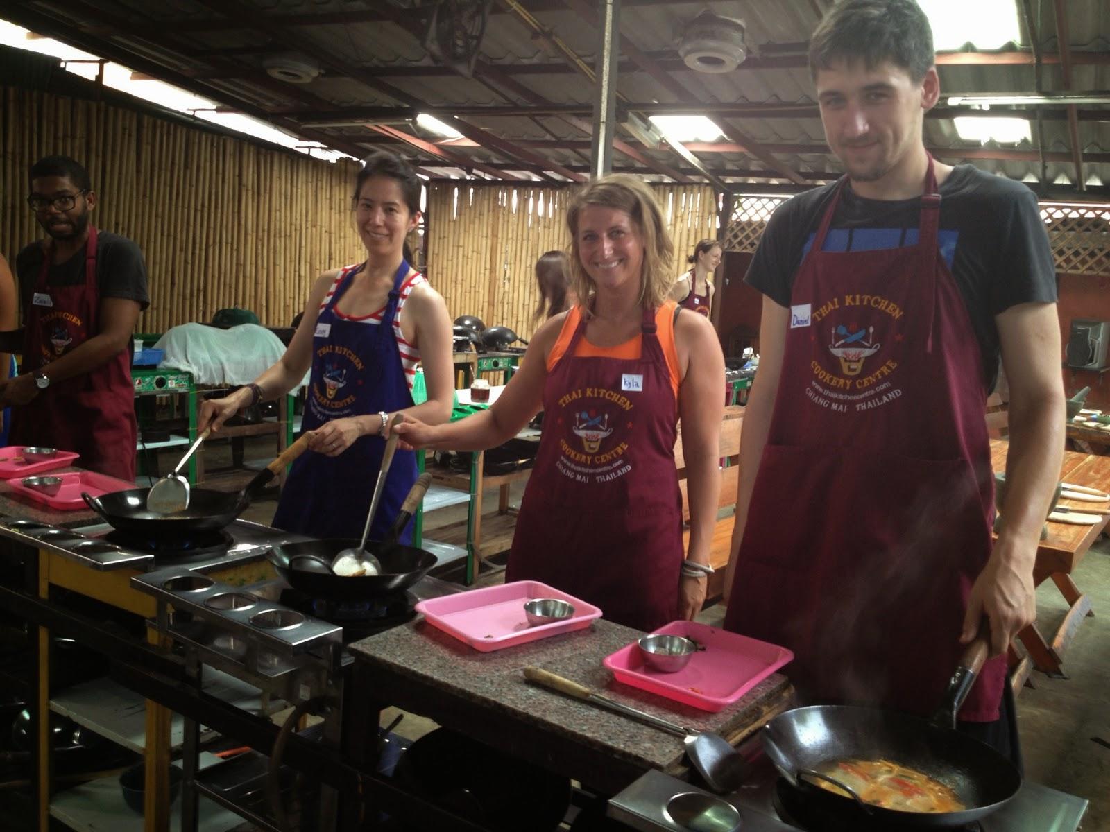 Chiang Mai - My classmates and I making Tom Yum Goong