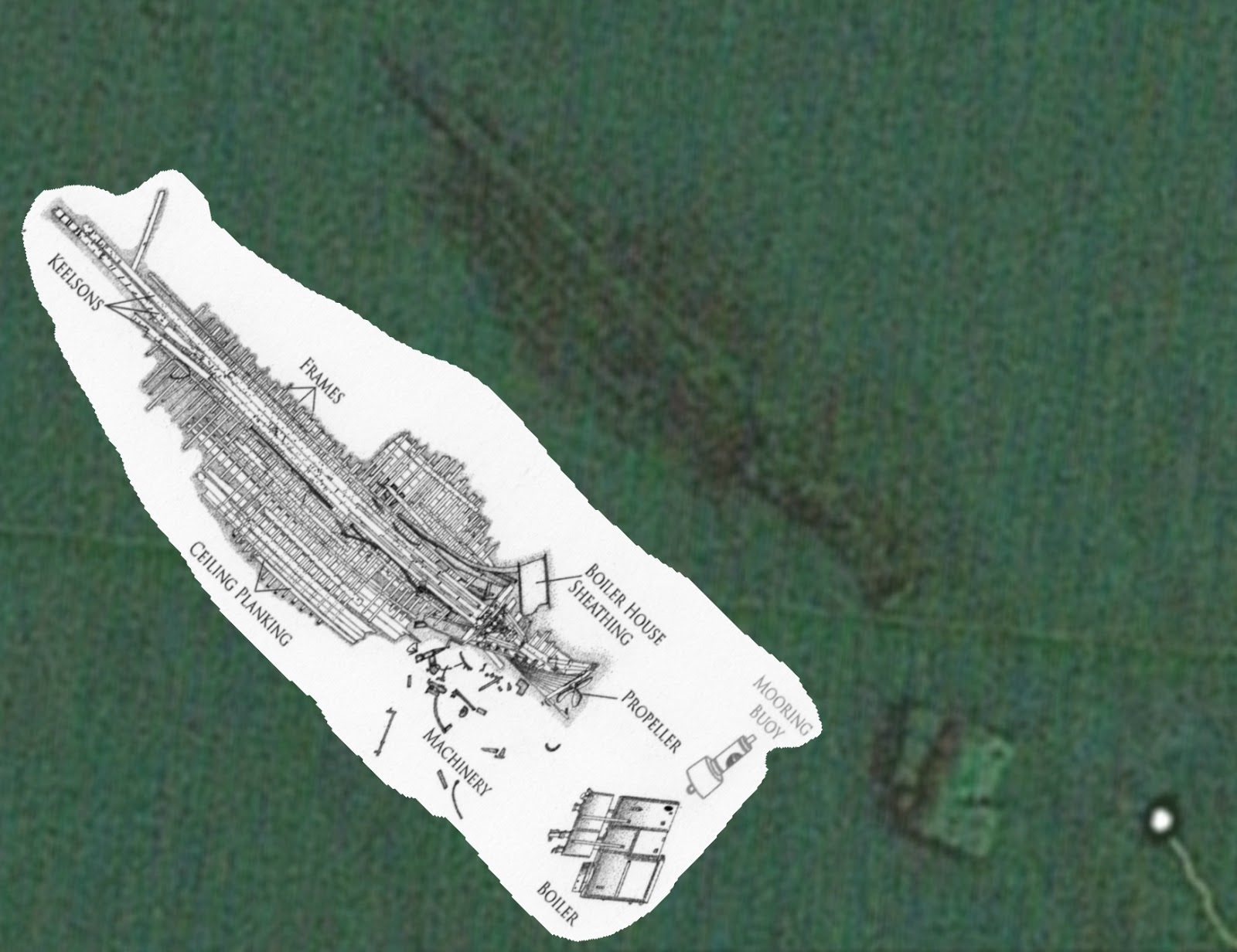 how to find shipwrecks on google earth