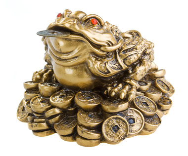 Frog With Coin In Mouth Ring