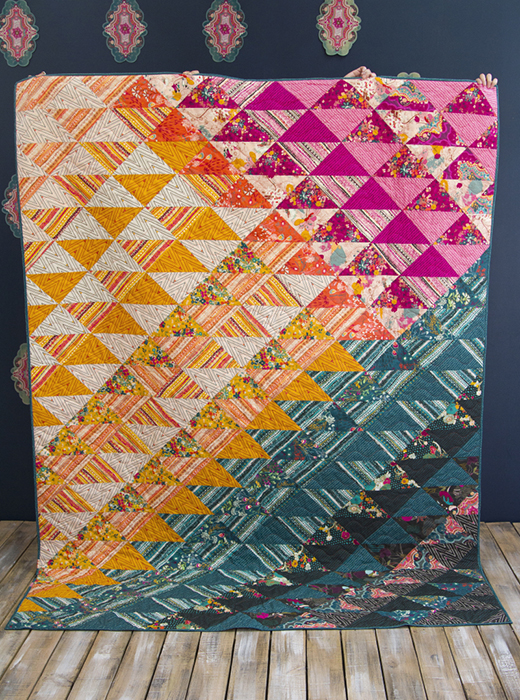 Entwine Quilt Free Pattern designed by Live art gallery fabrics, featuring Legendary Collection by Pat Bravo