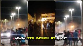 (بالفيديو) عاجل حالة احتقانكبيرة الان  في ولاية المنستير  و طلق عشوائي للغاز المسيل للدموع من طرف الأمن وسط