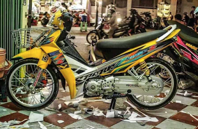 Modifikasi Motor Vega R Thailook