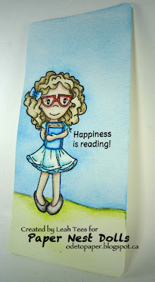 Paper Nest Dolls Watercolor Bookmark Leah Tees