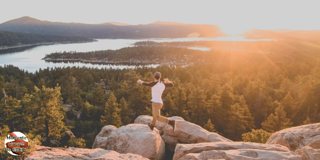 """Header image of the article: """"13 Habits That Can Absolutely Transform Your Life"""". List of habits to change your life for the better. Man, sight, beautiful, inspiration, life changing, habit."""
