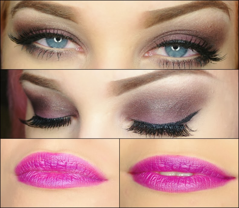 makeup look smashbox smokebox smokey eye milani violet volt