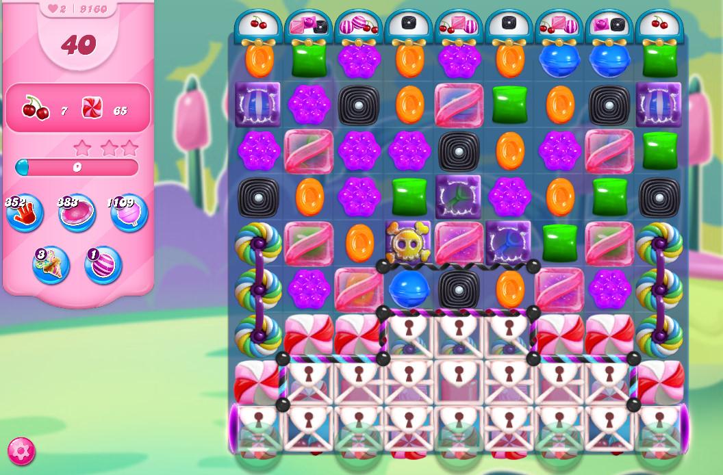 Candy Crush Saga level 9160