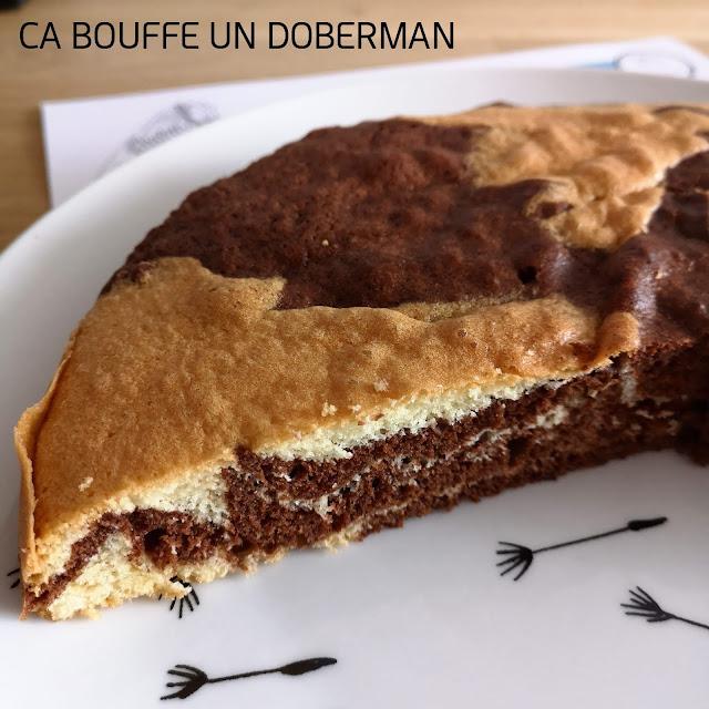 Gateau marbré au chocolat recette ca bouffe un doberman