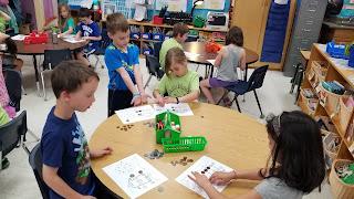 Kids playing money game