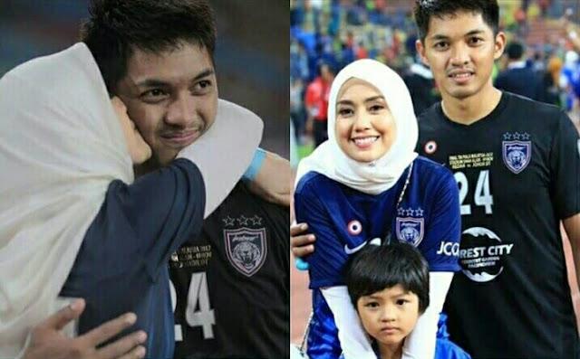 Ini Hadiah Mia Ahmad Kepada Izham Tarmizi Suaminya, JDT Menang Piala Malaysia 2017!
