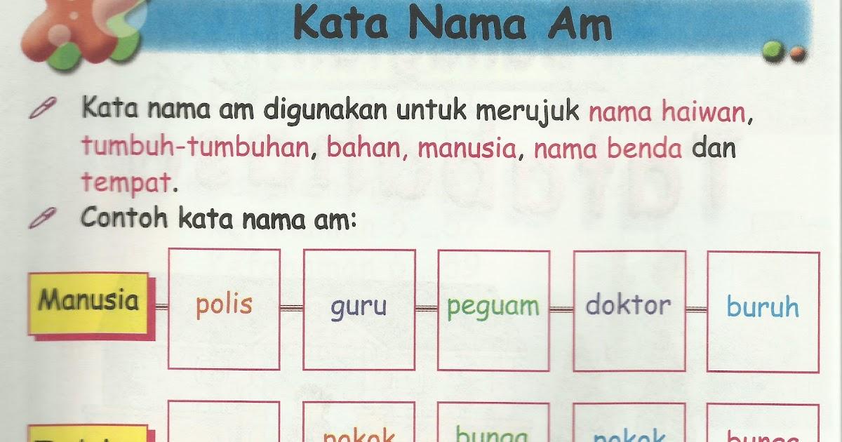 Jom Belajar 1 Kata Nama Kata Nama Am Kata Nama Khas Cute766