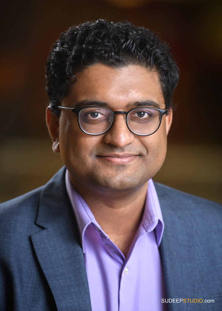 Ann Arbor Business Headshots for Author Journalist and Indian University Professor by SudeepStudio.com