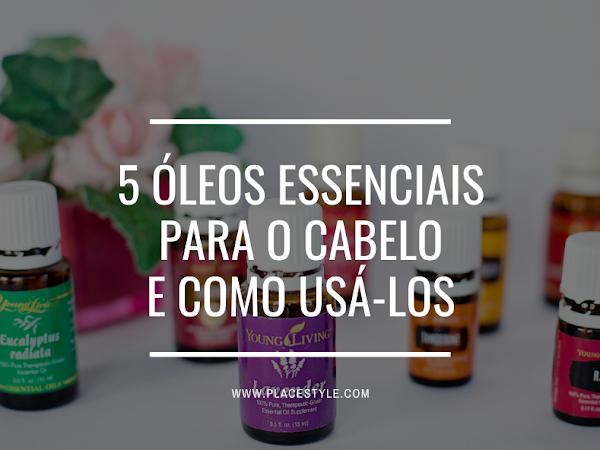5 Óleos essenciais para o cabelo e como usá-los