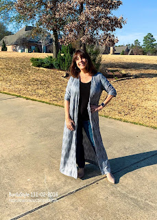 Sharon wears BurdaStyle Magazine Maxi Cardi 131 from Feb. 2016 Issue
