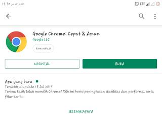 Browser terbaik untuk smartphone android Google Chrome