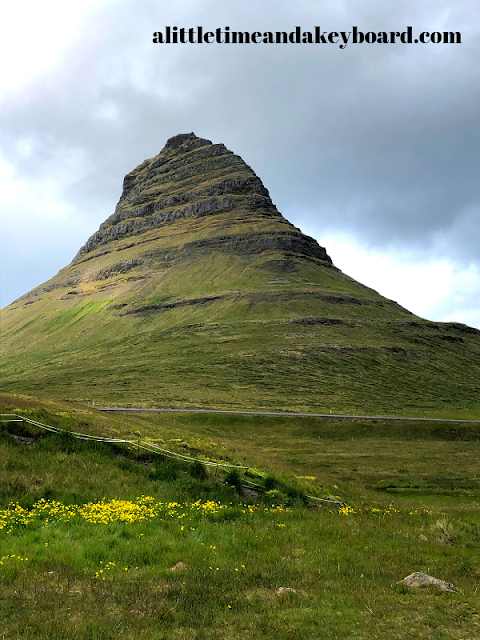 Magnificent Kirkjufell rising against the Icelandic landscape.