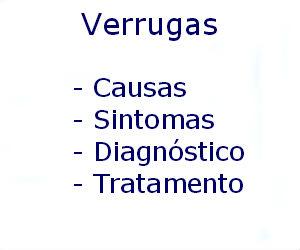 Verrugas causas sintomas diagnóstico tratamento prevenção riscos complicações