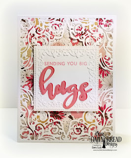 Custom Dies: Lacey Corners, Pierced Squares Paper Collection: Beautiful Blooms