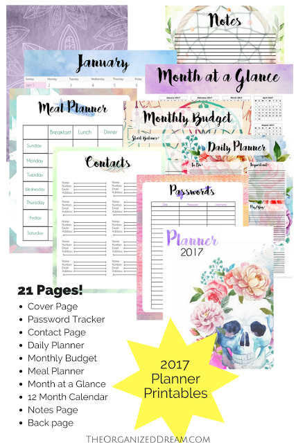 pretty 2017 planner