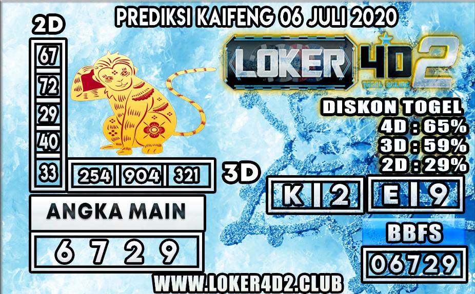 PREDIKSI TOGEL KAIFENG LOKER4D2 06 JULI 2020