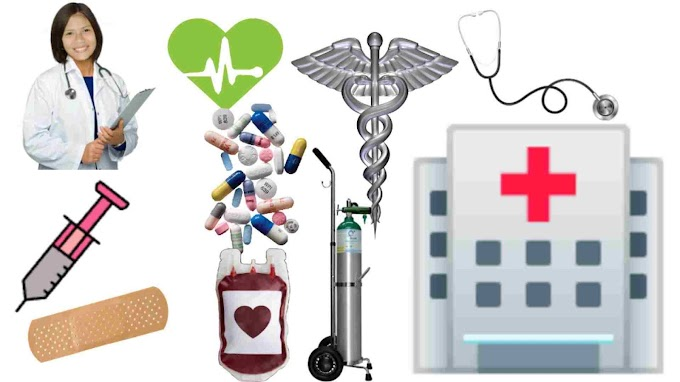 word list related on hospital, health and diseases for educational use