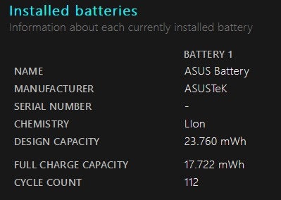 Check Battery Report