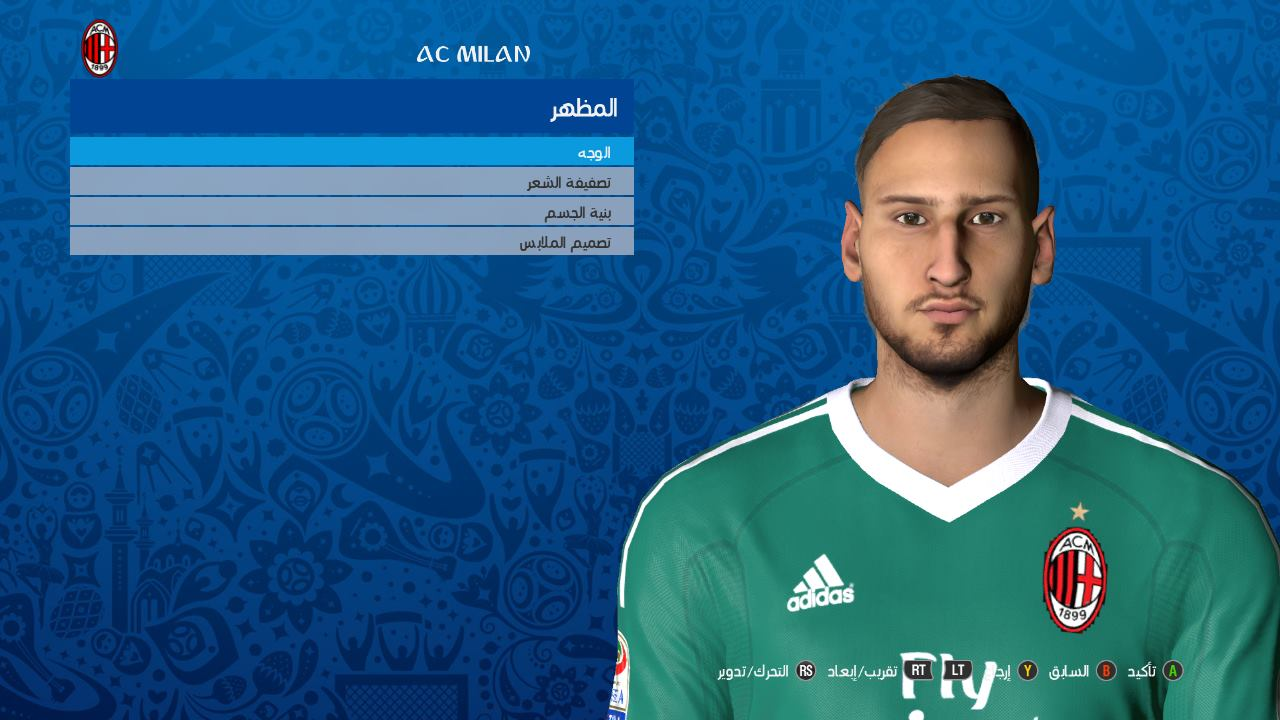 PES 2017 Gianluigi Donnarumma Face by Youssef Facemaker