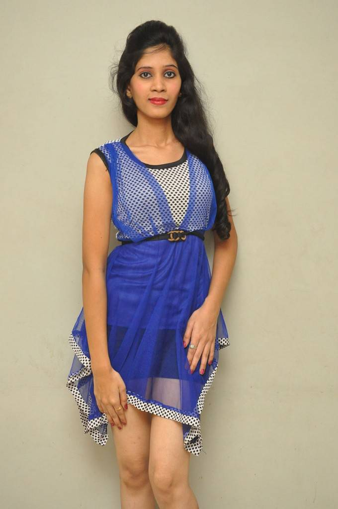 Actress Omu In Blue Dress Spicy Stills