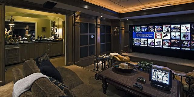 home theater room decor design