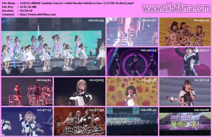 210523 AKB48単独コンサート