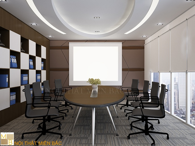 Mẫu thiết kế nội thất phòng họp sang trọng, chuyên nghiệp
