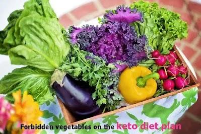 Forbidden vegetables on the keto diet plan